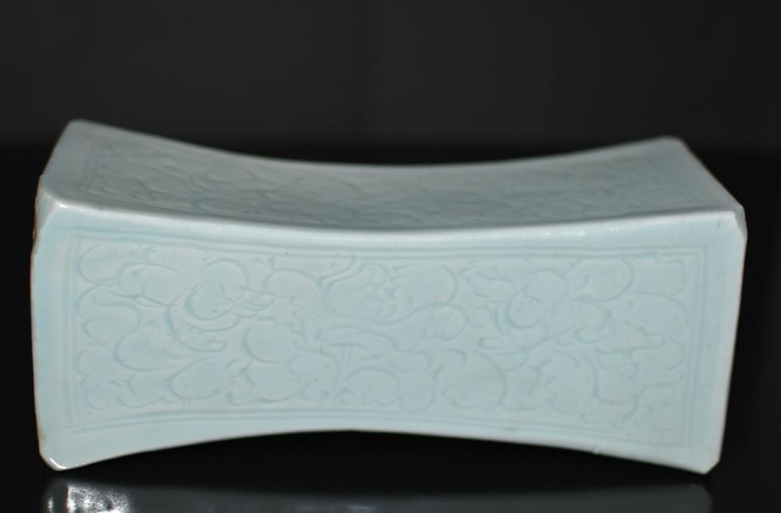 Chinese Ying Qing Porcelain Pillow - 2
