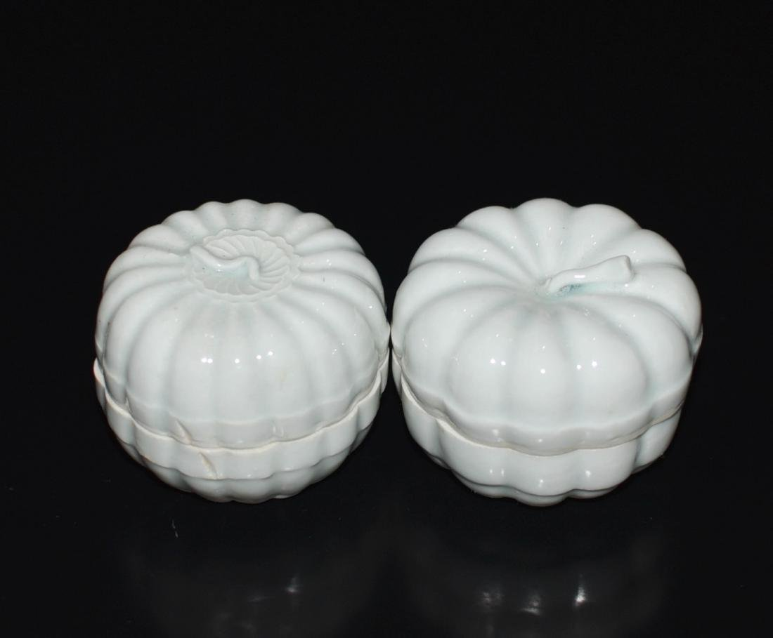Pair Of Chinese Ying Qing Porcelain Box - 2