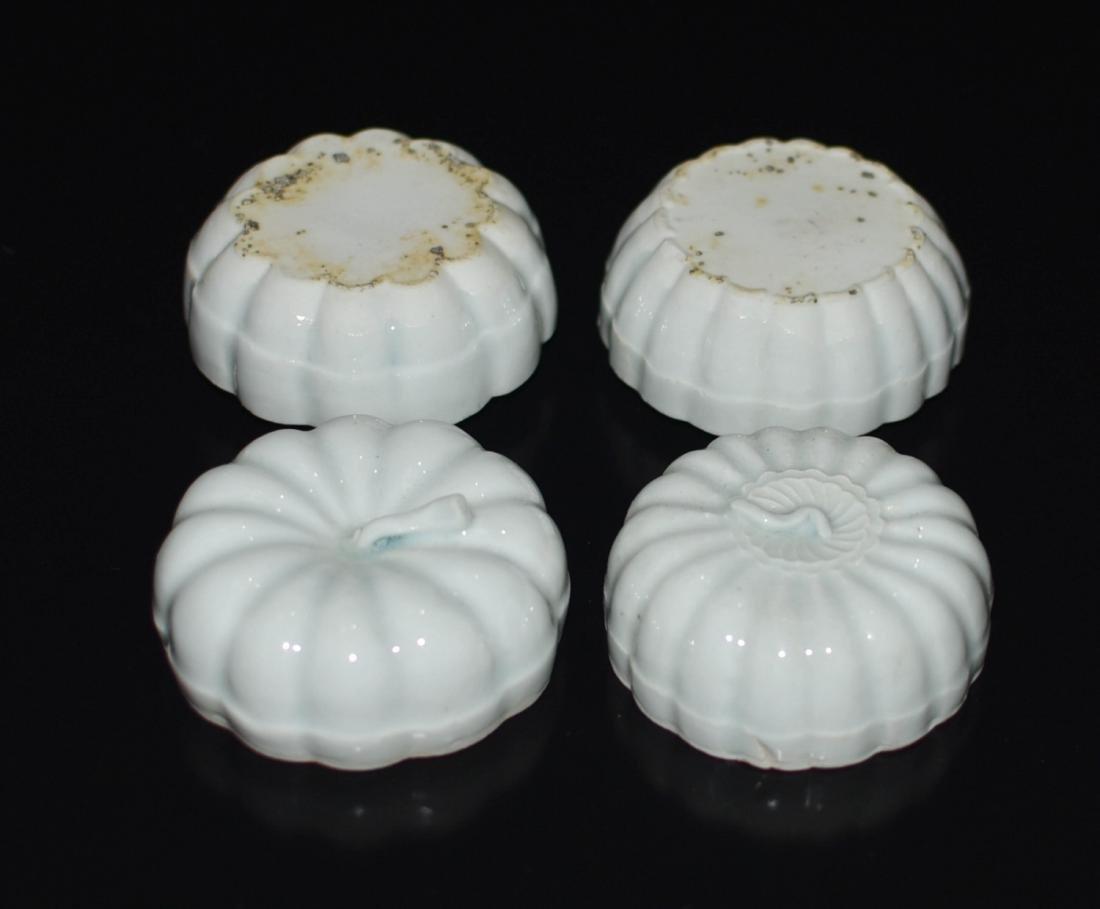 Pair Of Chinese Ying Qing Porcelain Box - 3