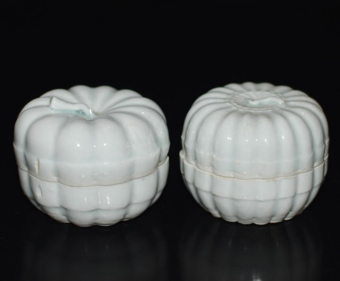 Pair Of Chinese Ying Qing Porcelain Box - 5