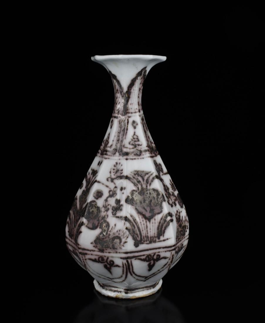 Chinese Copper Red Glaze Porcelain Vase