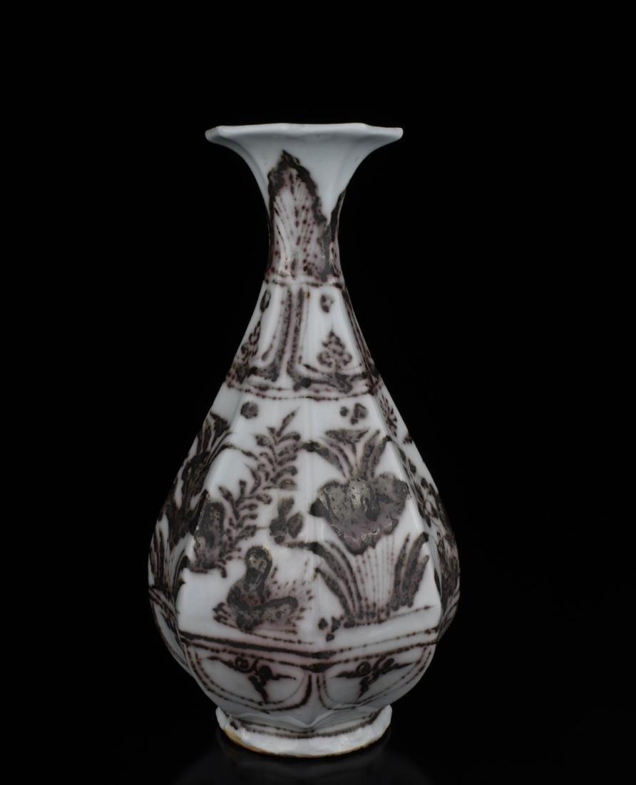 Chinese Copper Red Glaze Porcelain Vase - 3
