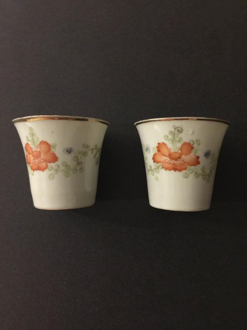 Pair Of Republic Period Porcelain Teacup