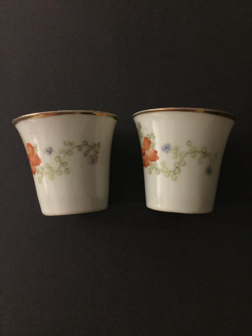 Pair Of Republic Period Porcelain Teacup - 2