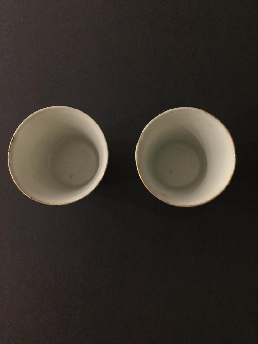 Pair Of Republic Period Porcelain Teacup - 4