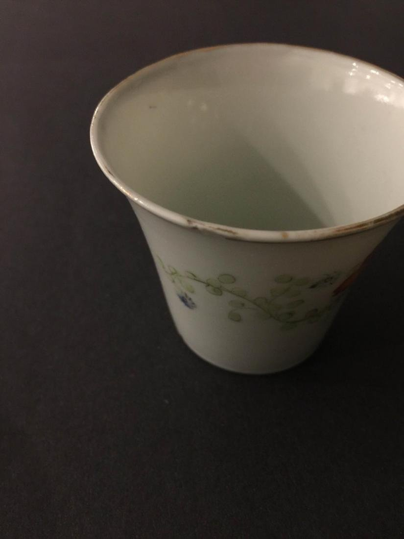 Pair Of Republic Period Porcelain Teacup - 7