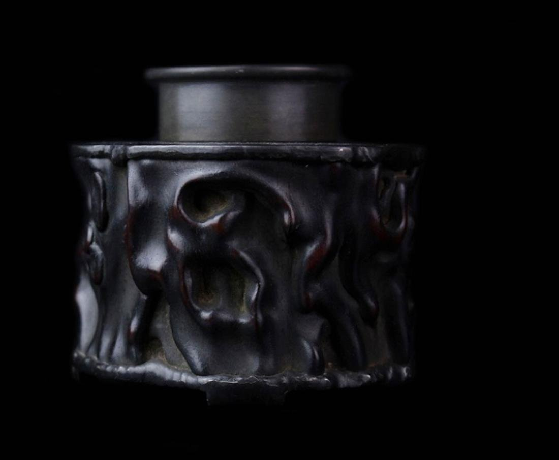 Qing Dynasty Zi Tan Petwer Tea Jar - 2