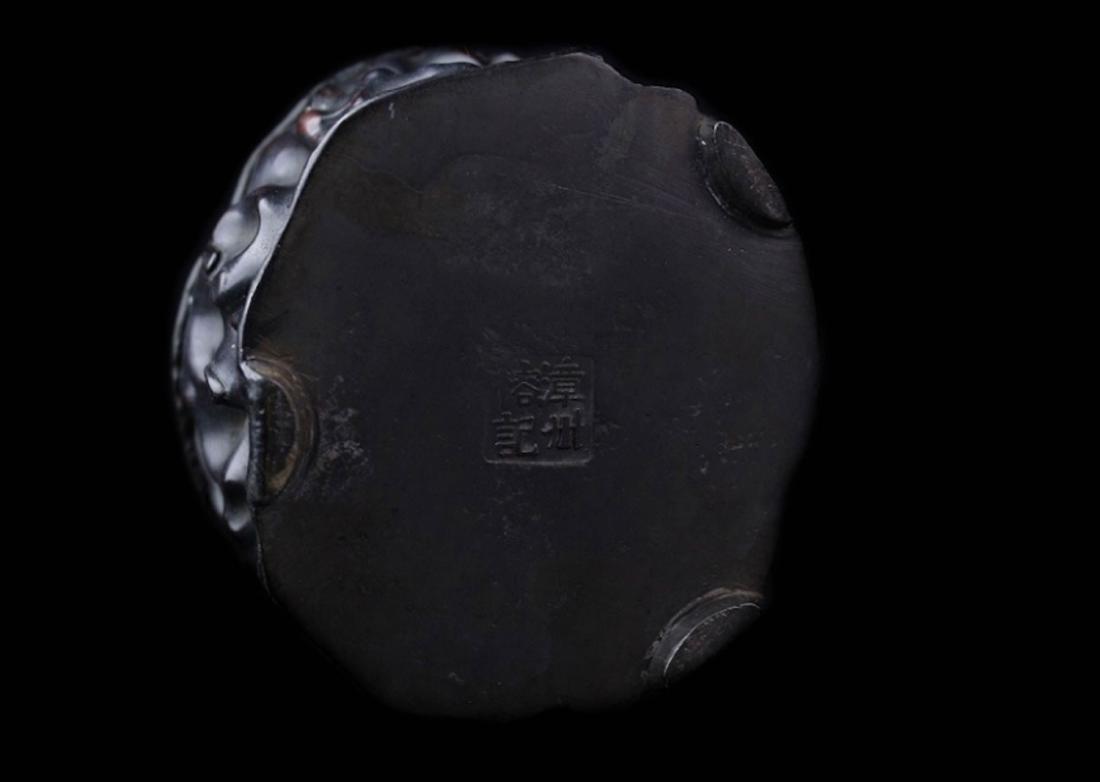 Qing Dynasty Zi Tan Petwer Tea Jar - 3