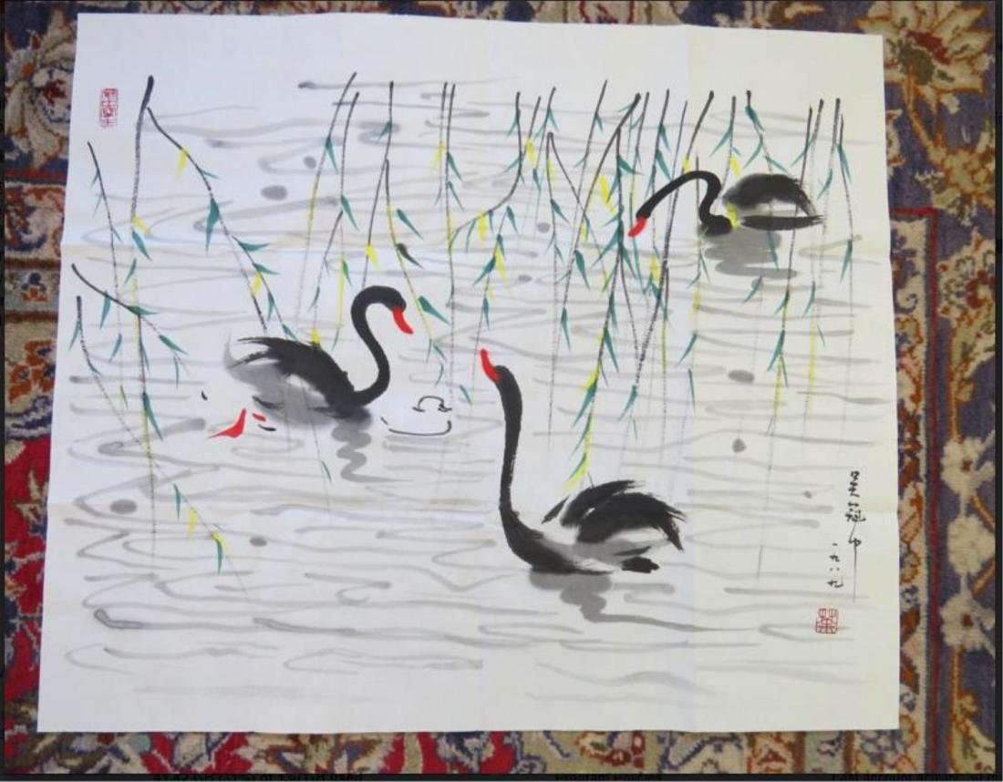 Chinese Ink Color Painting,Signed