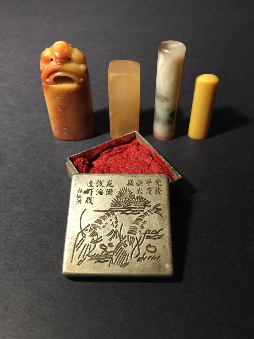 Set Of The Calligraphy Seal And Inkpad