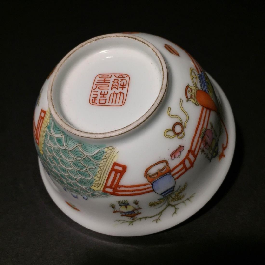 Qing Dynasty Famille Rose Porcelain Bowl - 5
