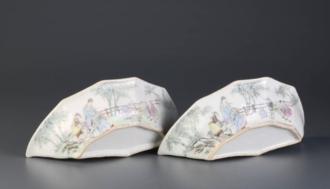 Pair of Chinese Porcelain Dishes, By Yu Ziming - 7