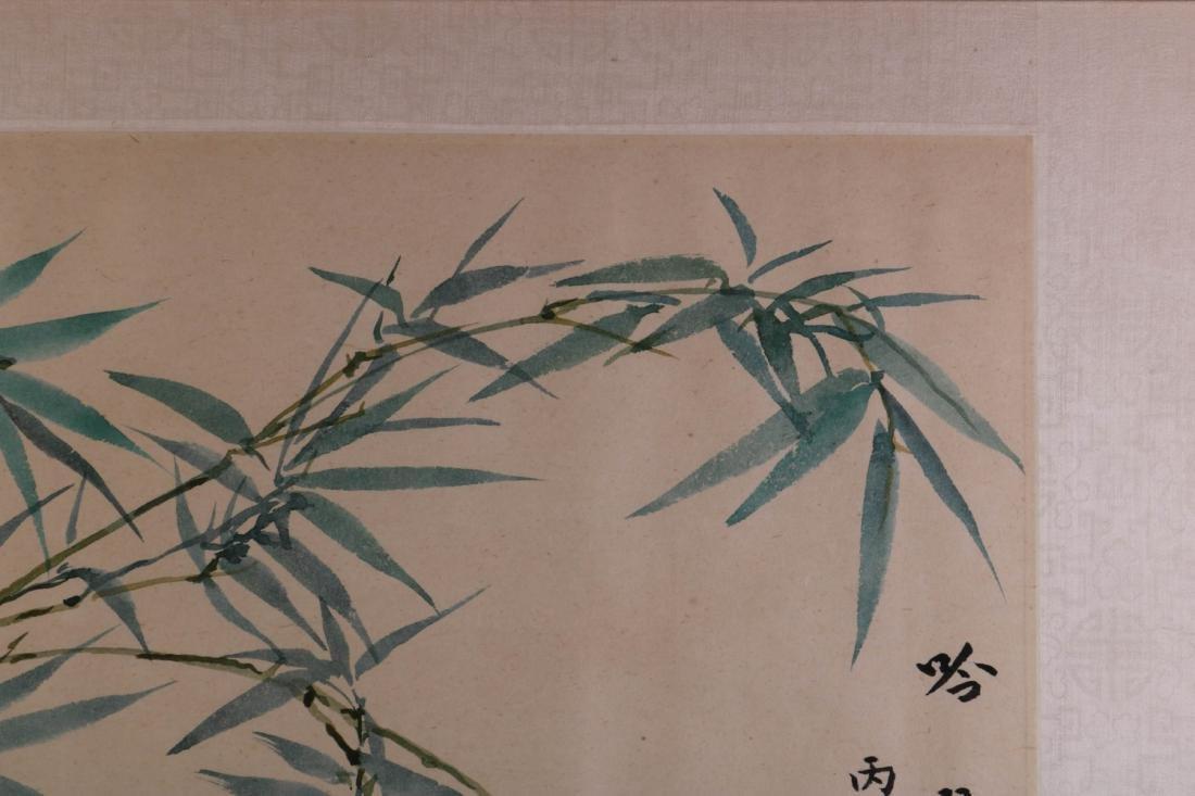 Chinese Bamboo Ink on Paper Painting, Wang JiYuan - 2