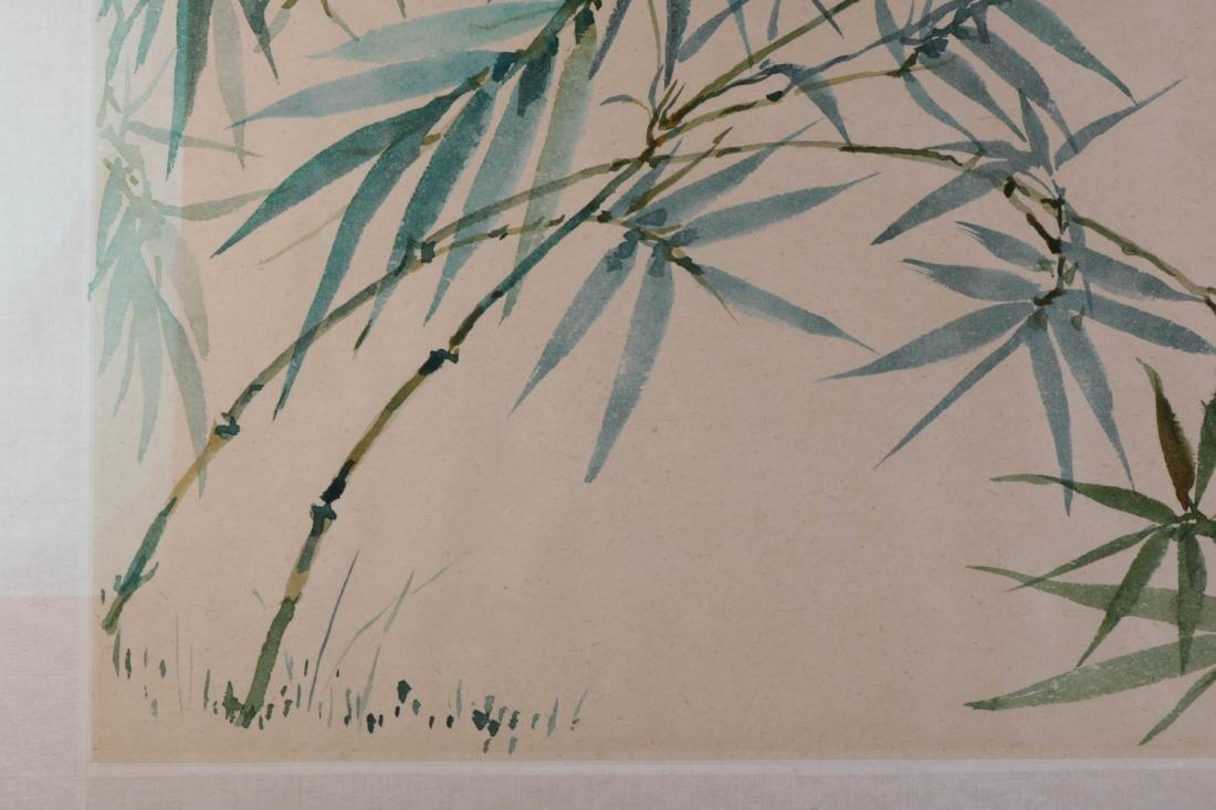 Chinese Bamboo Ink on Paper Painting, Wang JiYuan - 4