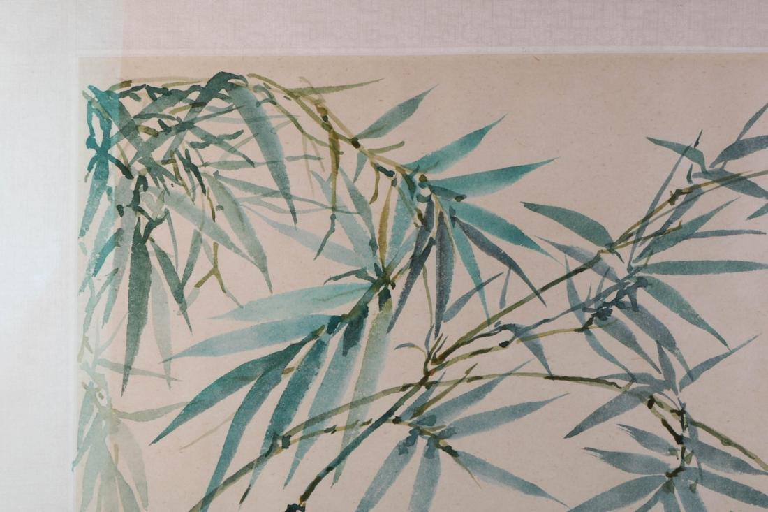 Chinese Bamboo Ink on Paper Painting, Wang JiYuan - 5