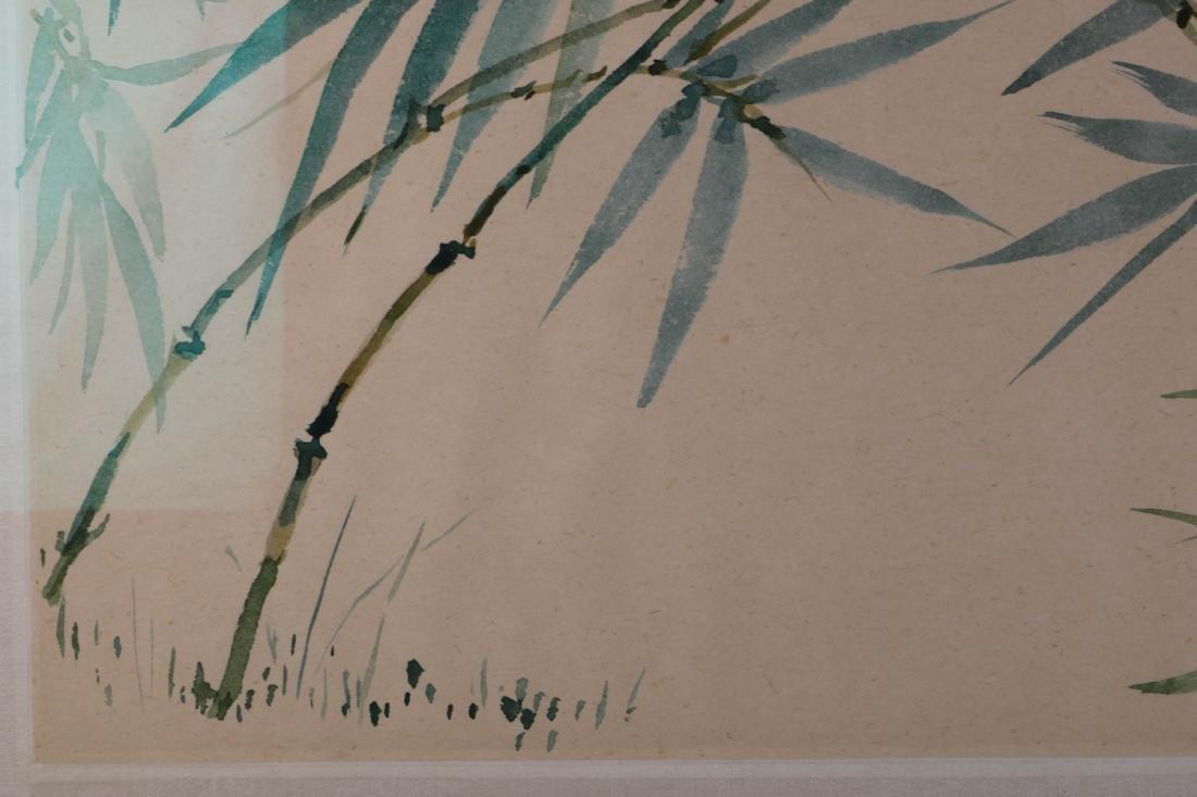 Chinese Bamboo Ink on Paper Painting, Wang JiYuan - 7