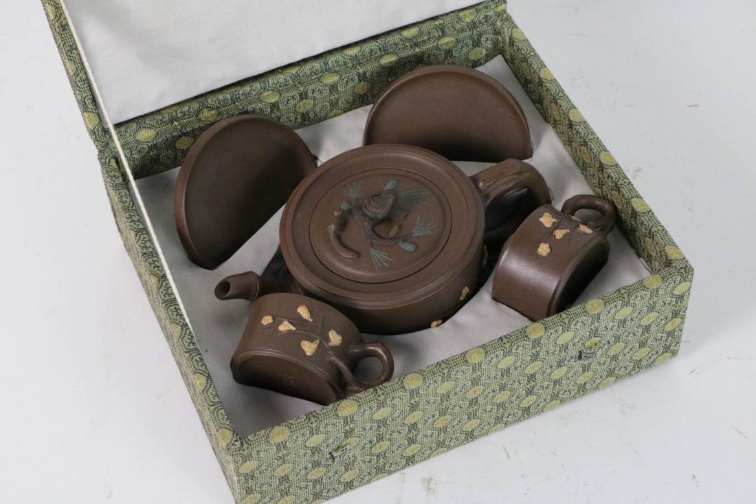 A Set Chinese Yixing Zisha Teapot