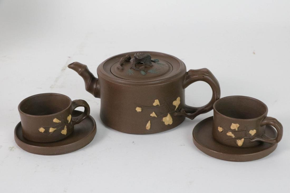 A Set Chinese Yixing Zisha Teapot - 2