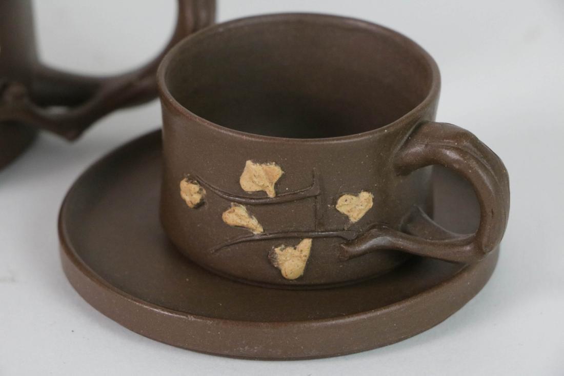 A Set Chinese Yixing Zisha Teapot - 4