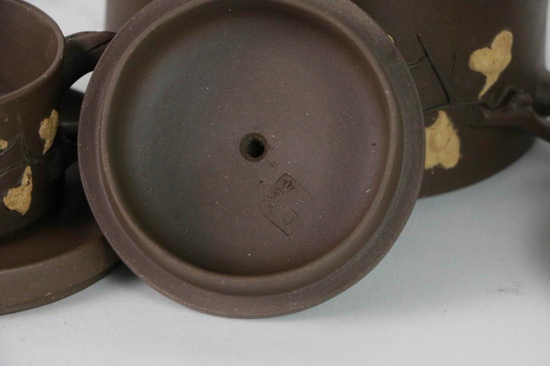 A Set Chinese Yixing Zisha Teapot - 6