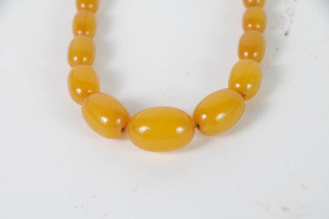 Old butterscotch bakelite Necklace - 2
