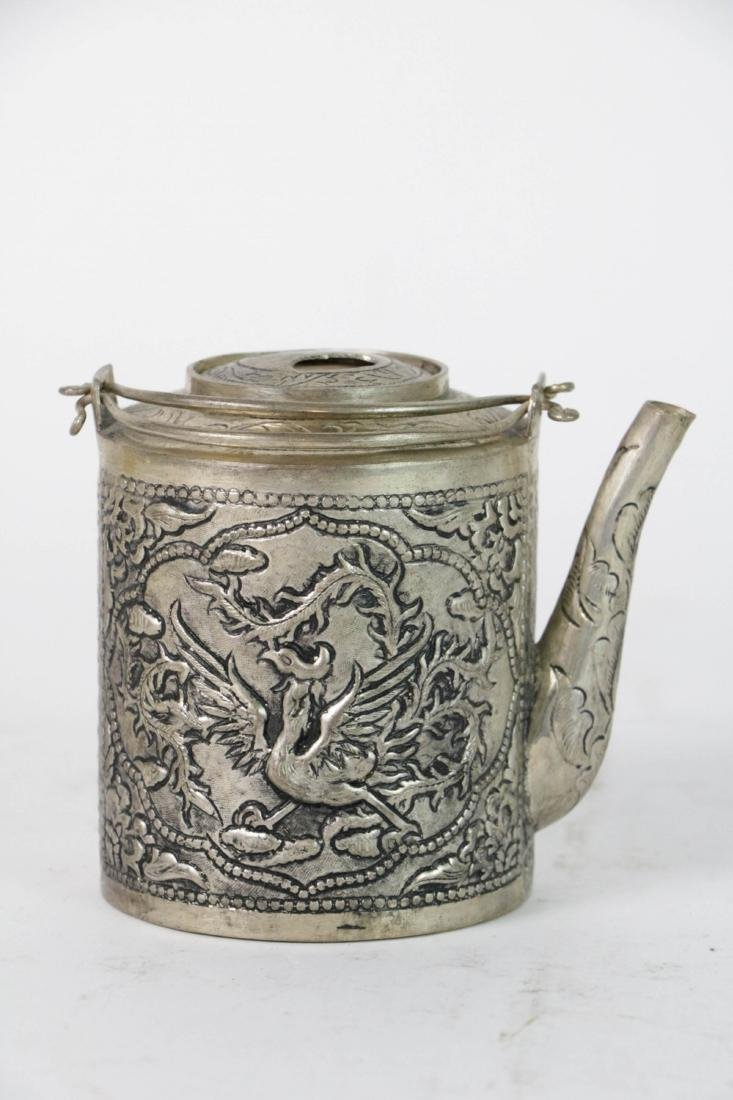 Old Chinese low grade silver Teapot