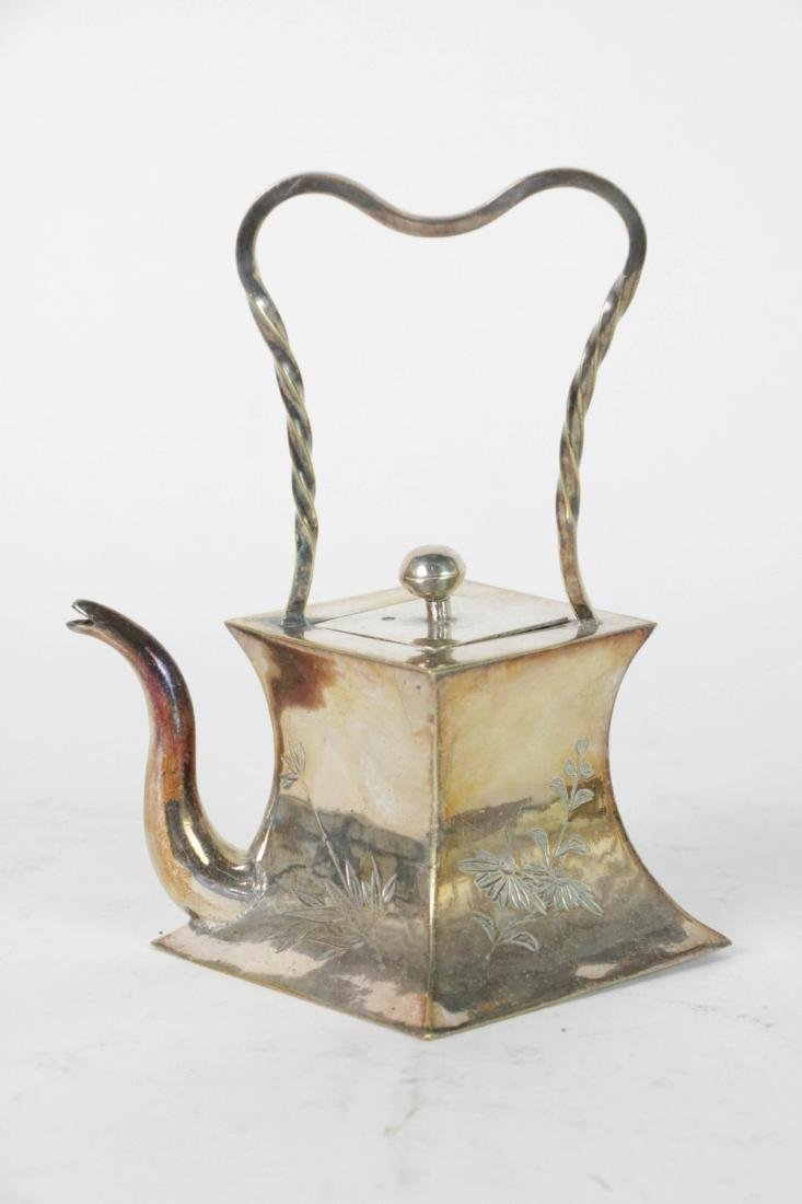 Chinese Brass or Bronze Teapot
