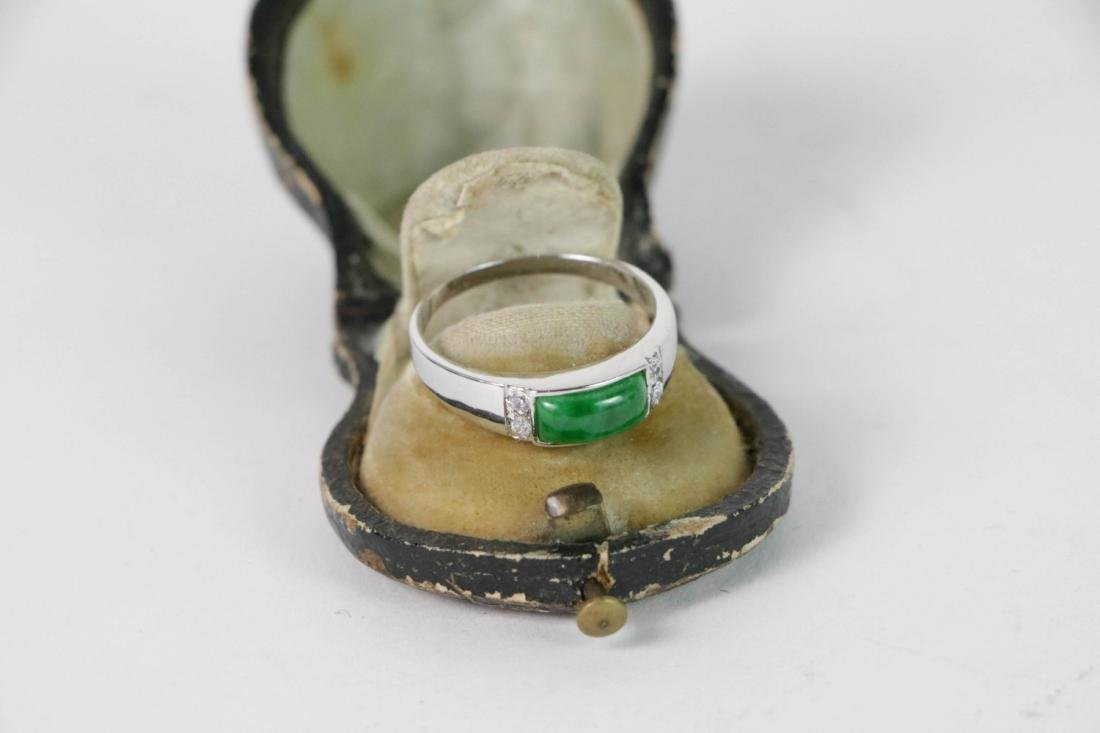 Old Custom Jewelry Ring with Leather Box