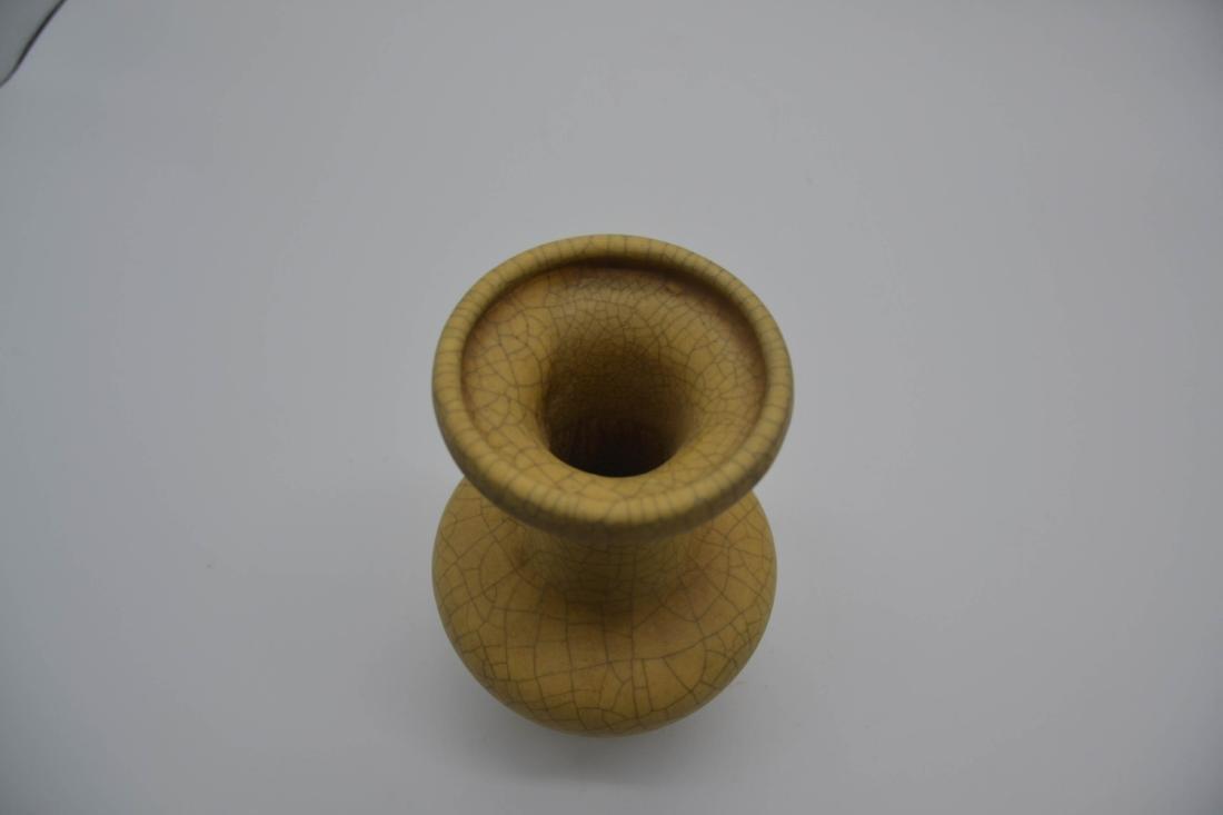 Chinese Ge Ware Porcelain Vase - 3