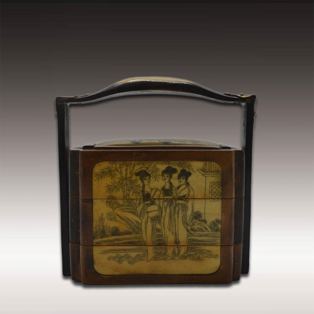 Chinese Huang Hua Li Lunch Box