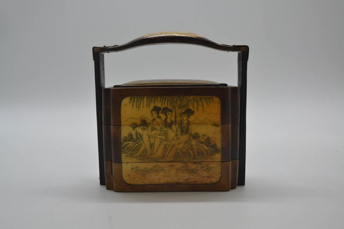 Chinese Huang Hua Li Lunch Box - 2
