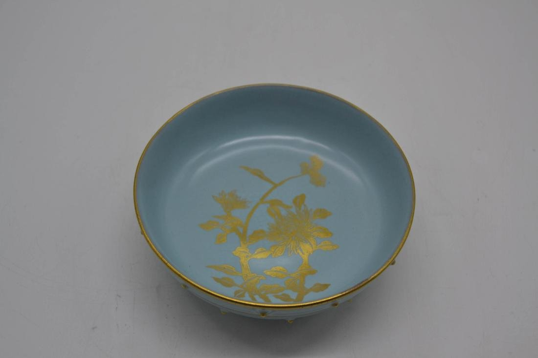 Chinese Sky Blue Glaze Porcelain Washer