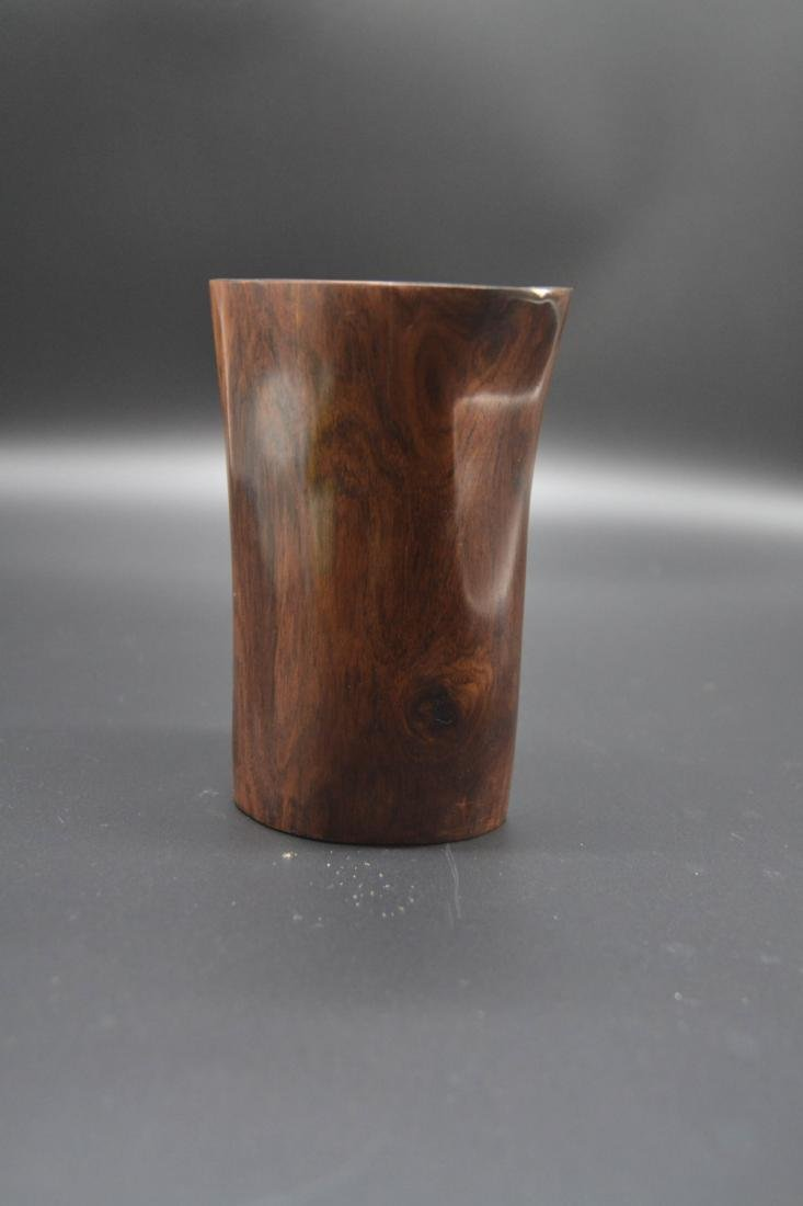 Chinese Huang Hua Li Wood Brush Pot - 2