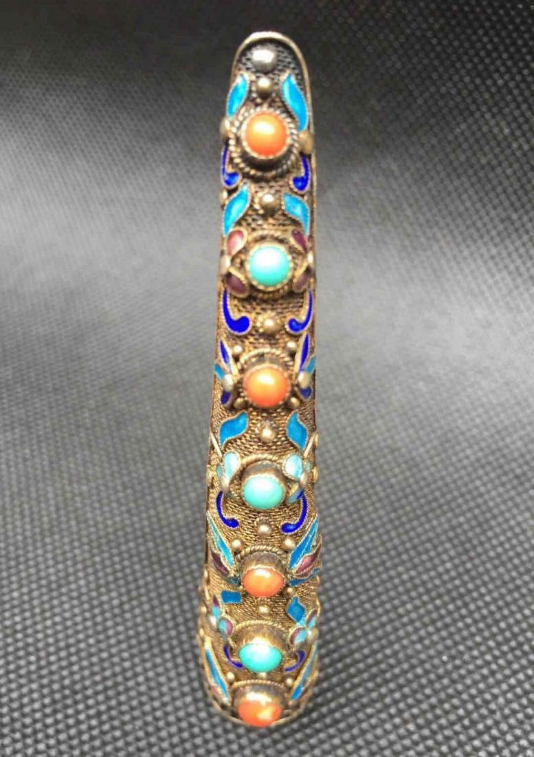 Chinese Mounted Diamond Hair Pin - 6