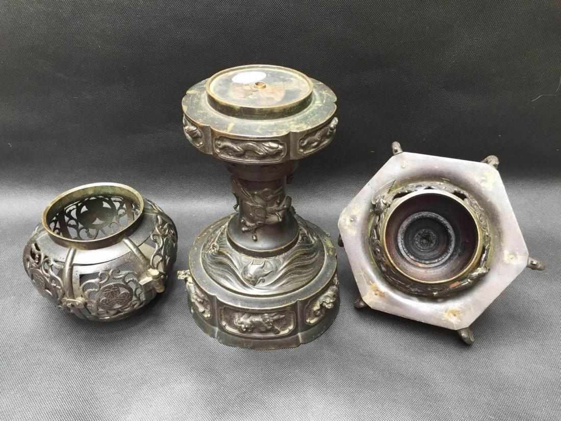 Chinese Bronze Aroma Holder - 6
