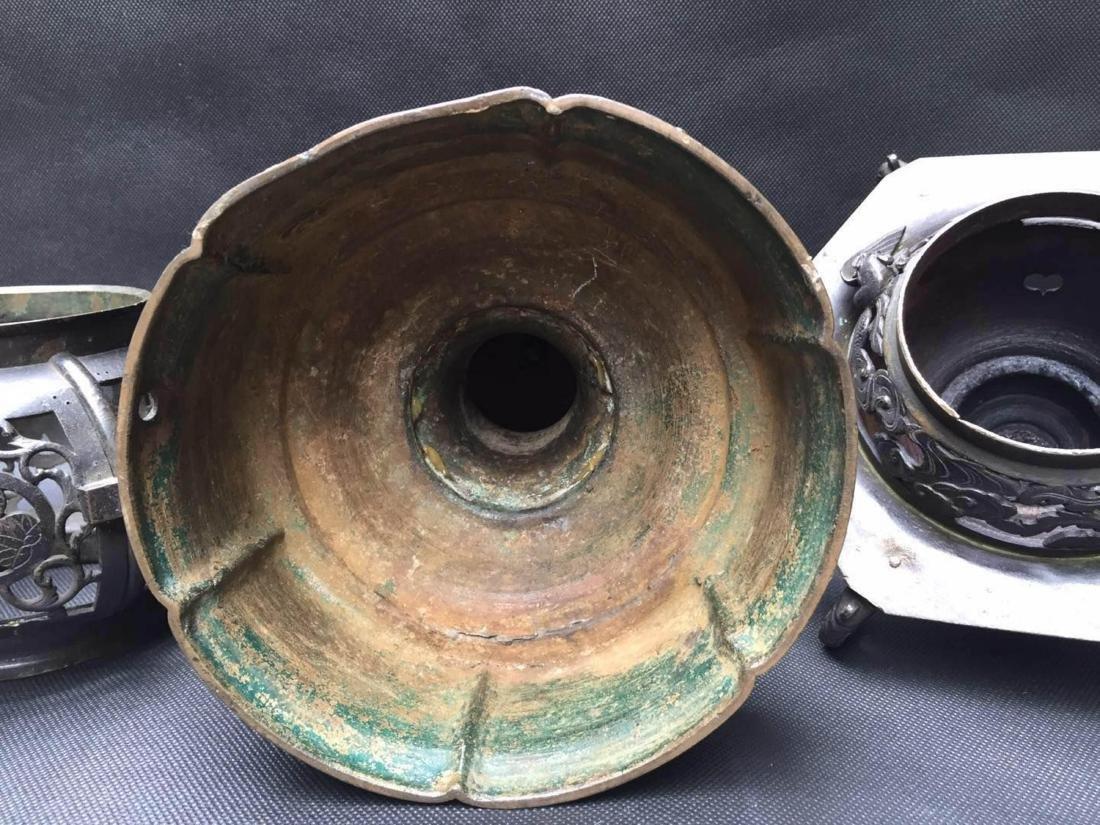 Chinese Bronze Aroma Holder - 7