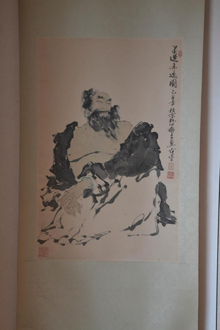 Chinese Ink/Color Scroll Painting,Signed - 2