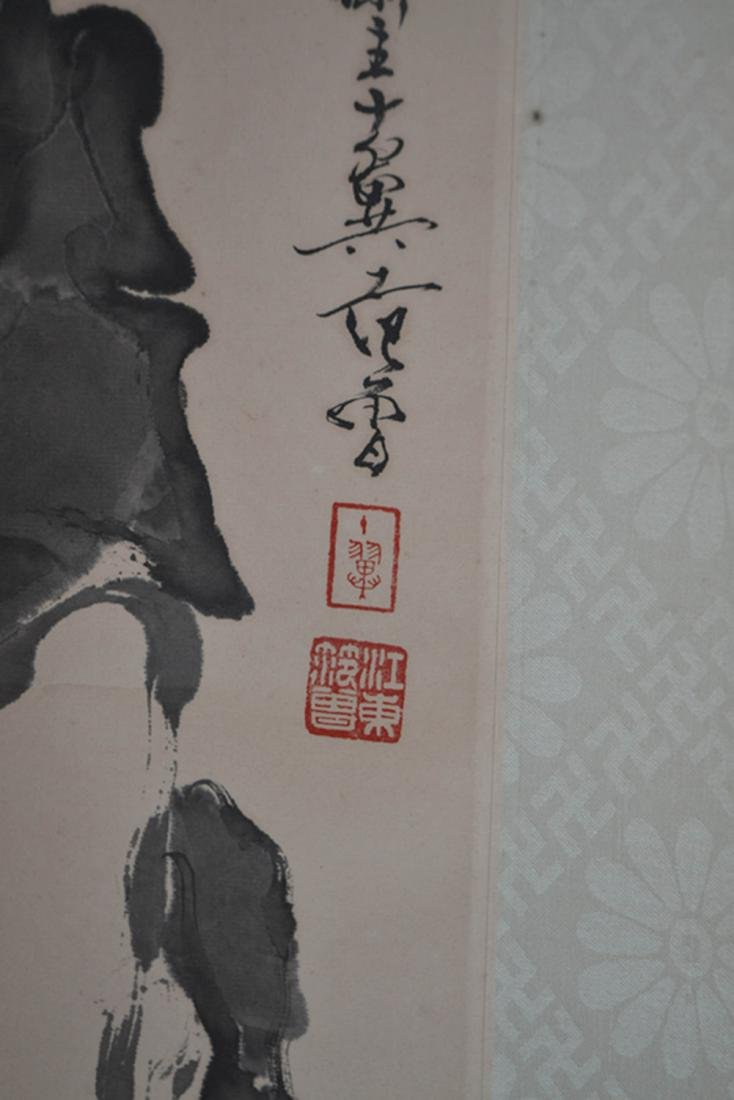 Chinese Ink/Color Scroll Painting,Signed - 3