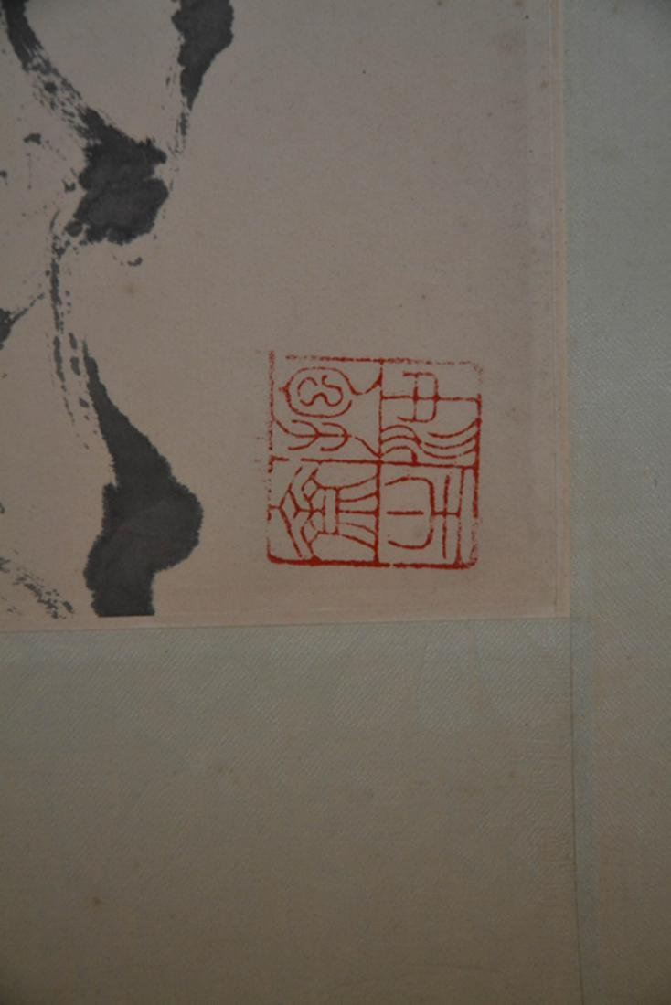 Chinese Ink/Color Scroll Painting,Signed - 5