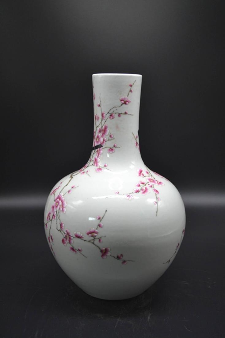 Chinese Enamel Porcelain Vase - 2