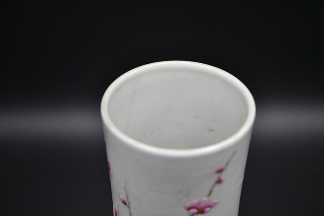Chinese Enamel Porcelain Vase - 3
