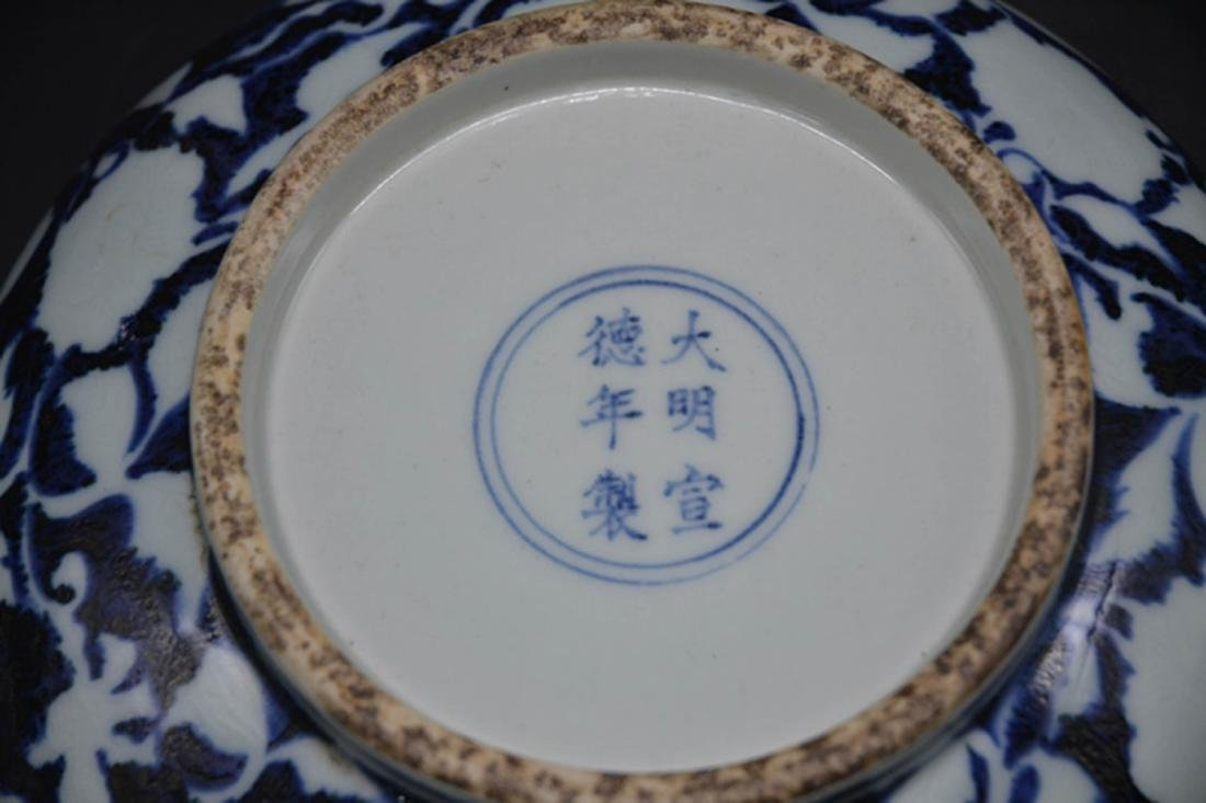 Chinese Blue Underglaze Porcelain Bowl - 3