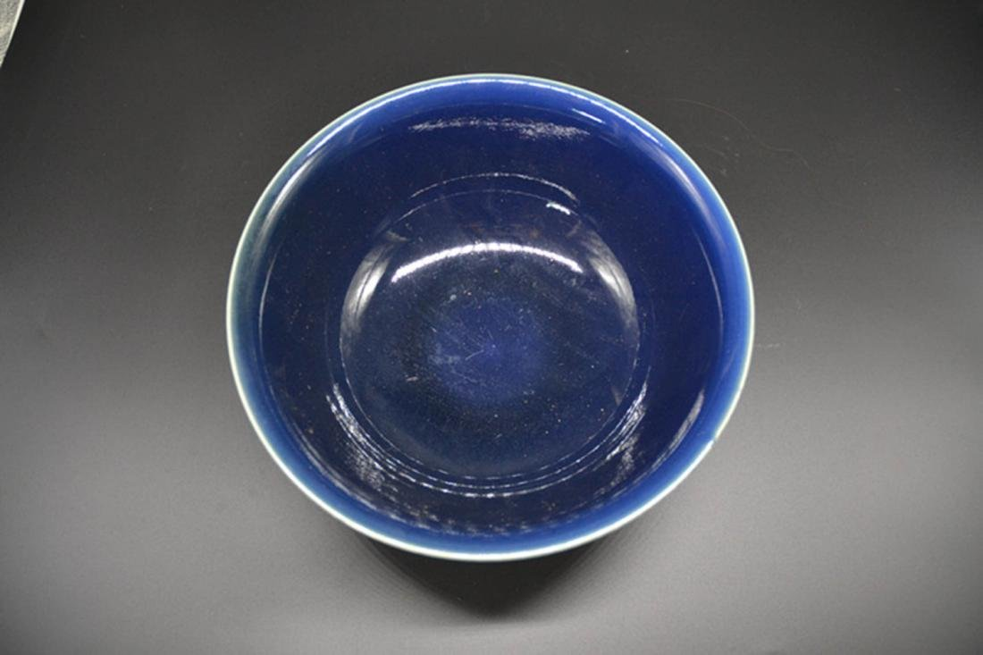 Chinese Blue Underglaze Porcelain Bowl - 4