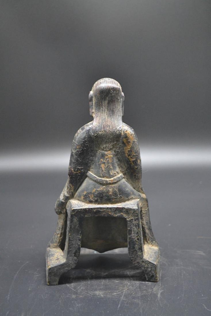 Chinese Gilt Bronze Buddha - 2