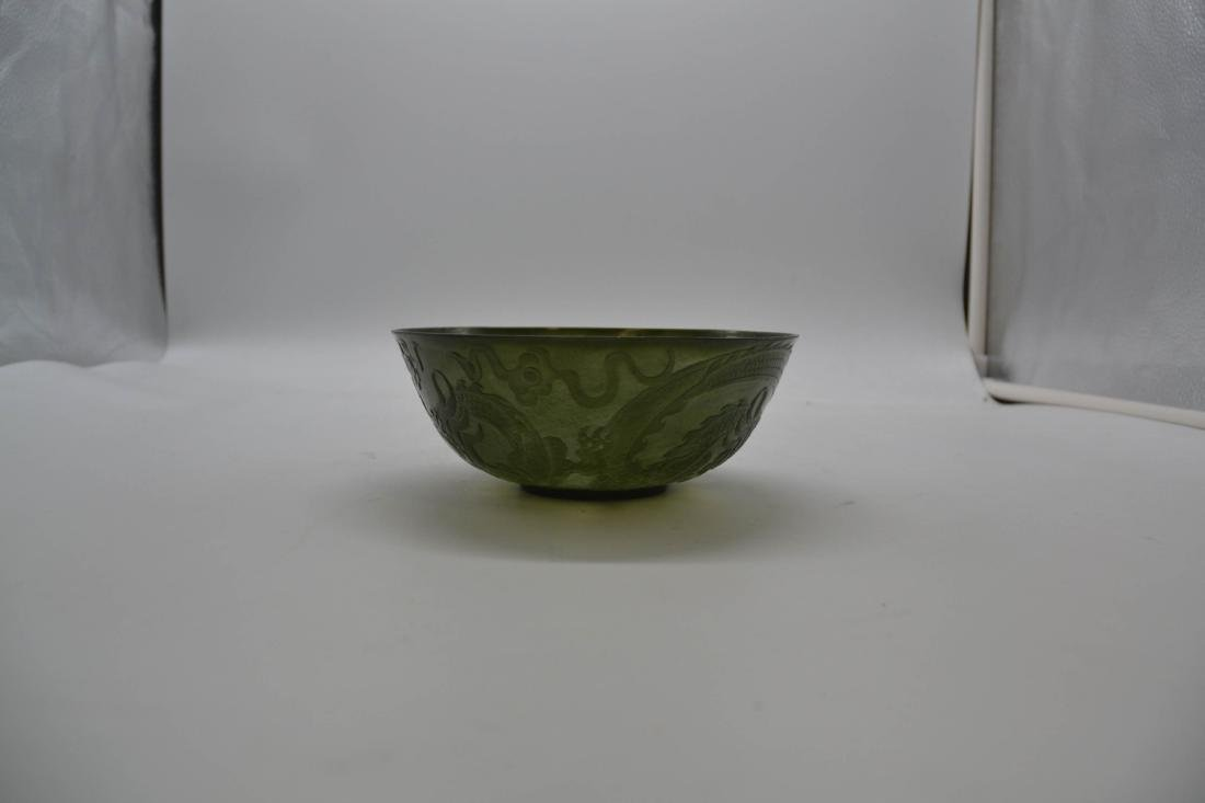 Chinese Nephrite Jade Porcelain Bowl