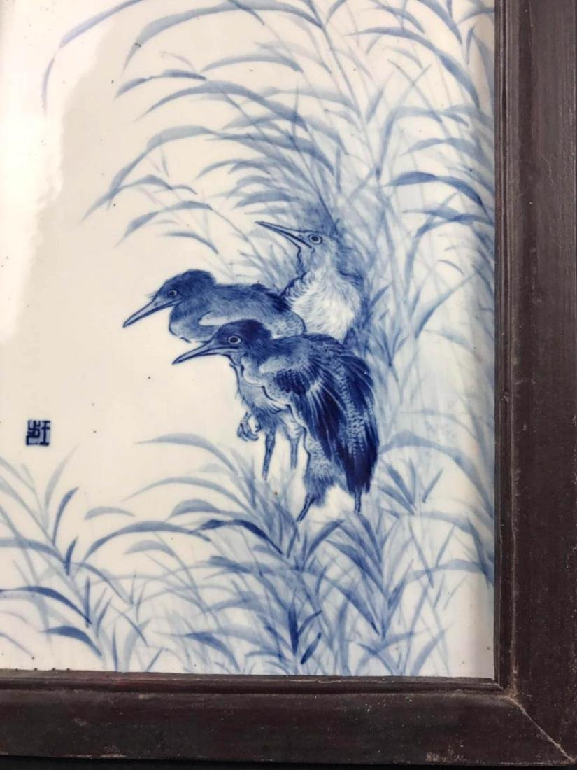 Chinese Blue And White Porcelain Plaque - 3