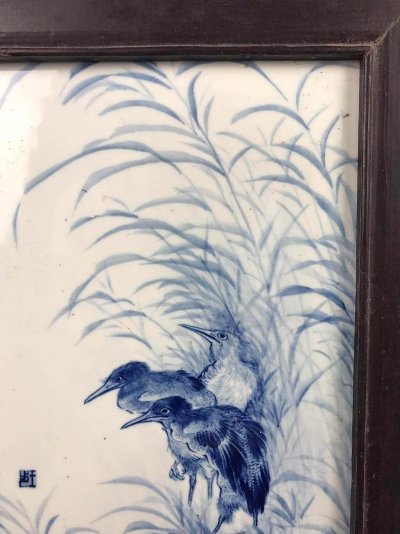 Chinese Blue And White Porcelain Plaque - 6