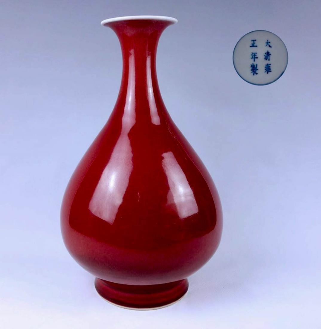Chinese Red Glaze Porcelain Vase