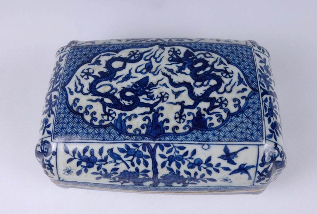 Chinese Blue And White Porcelain Box - 2