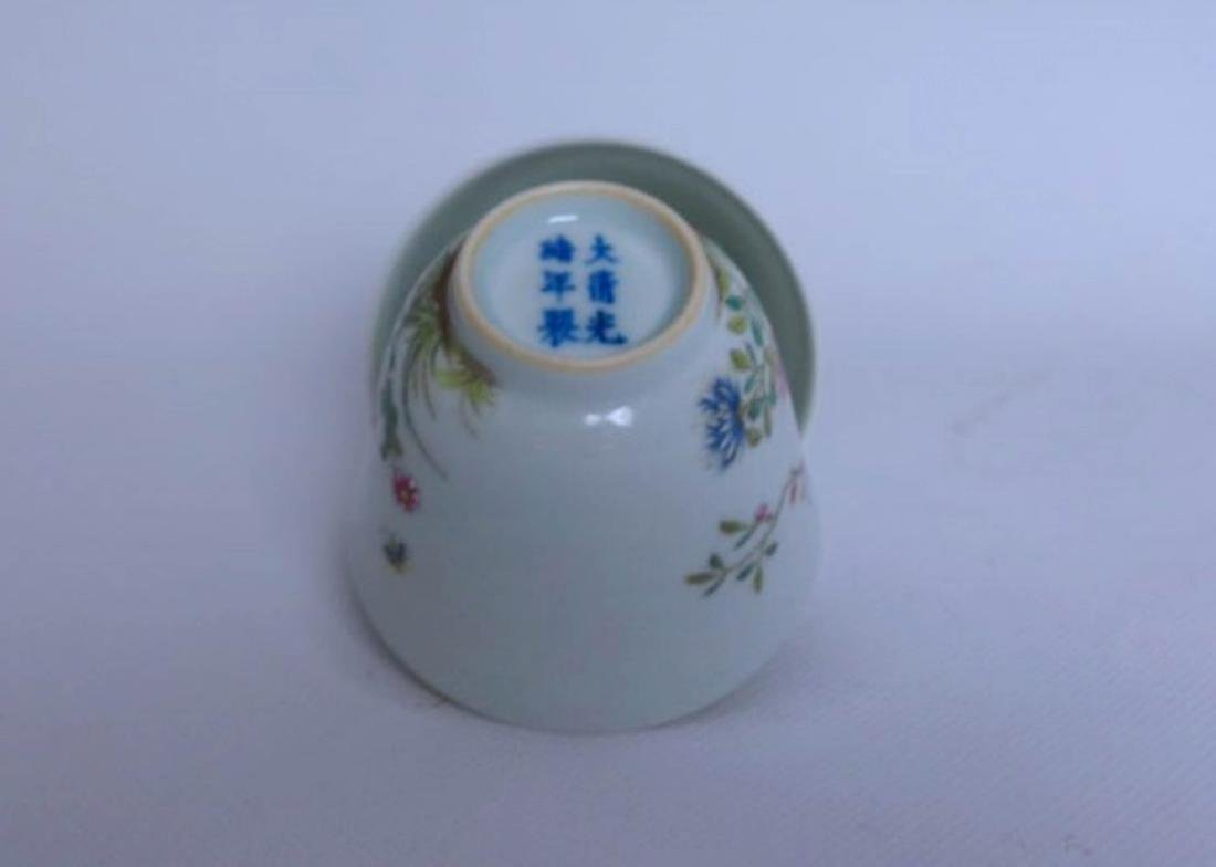 Pair Of Chinese Famille Rose Porcelain Vase - 5